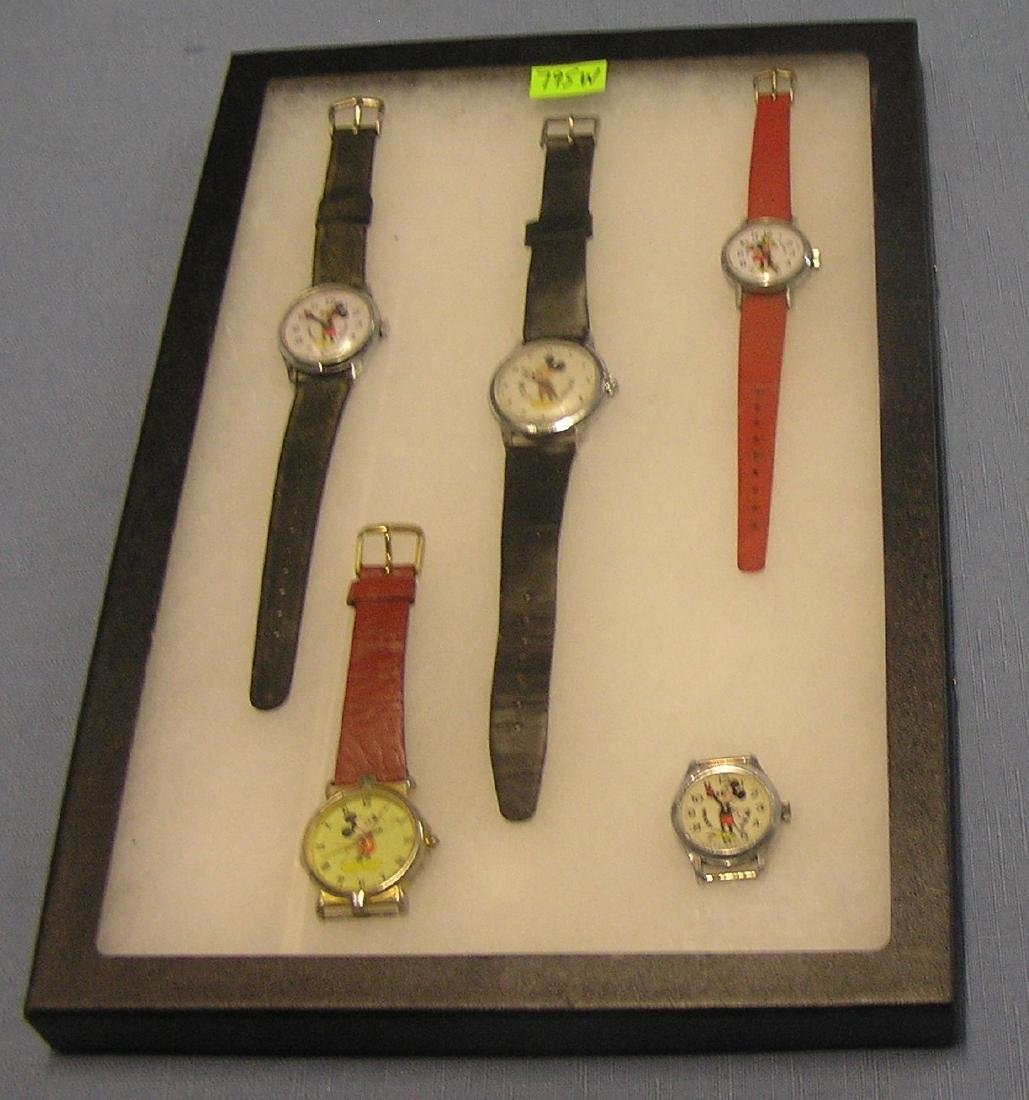 Vintage Mickey & Minnie Mouse Wrist watches