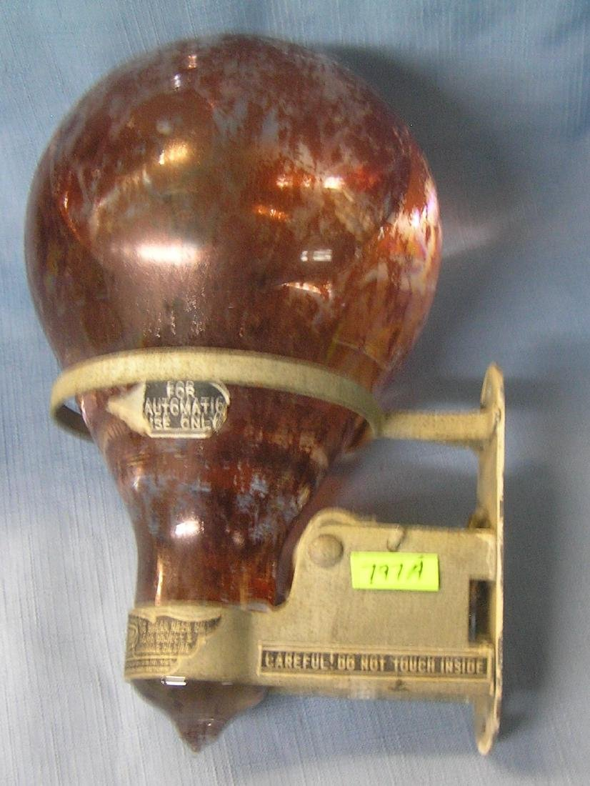 Large antique fire extinguishing grenade