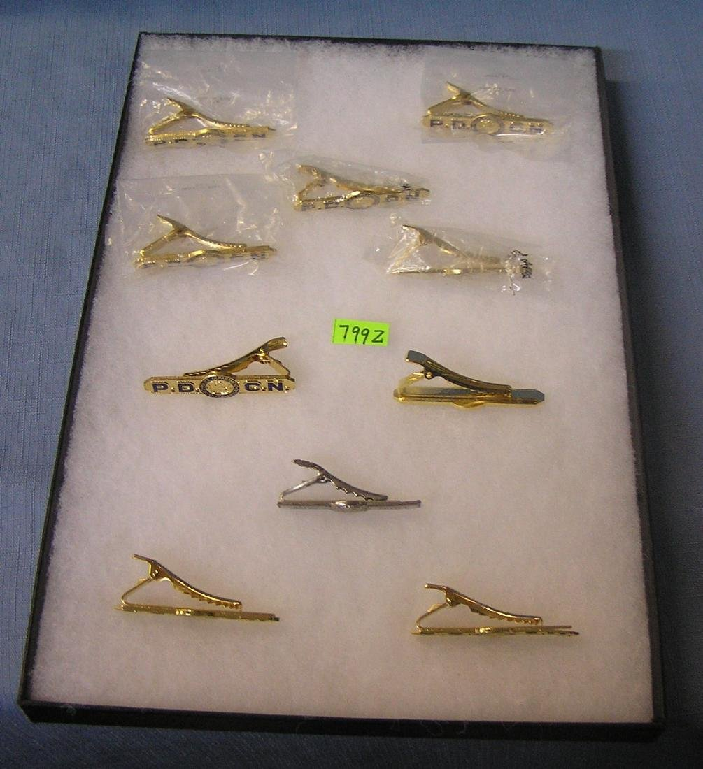 Collection of vintage policeman tie clips