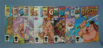 Group of vintage Marvel comic books featuring Groo