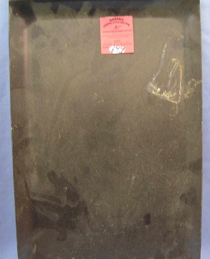 Vintage cast metal serving tray