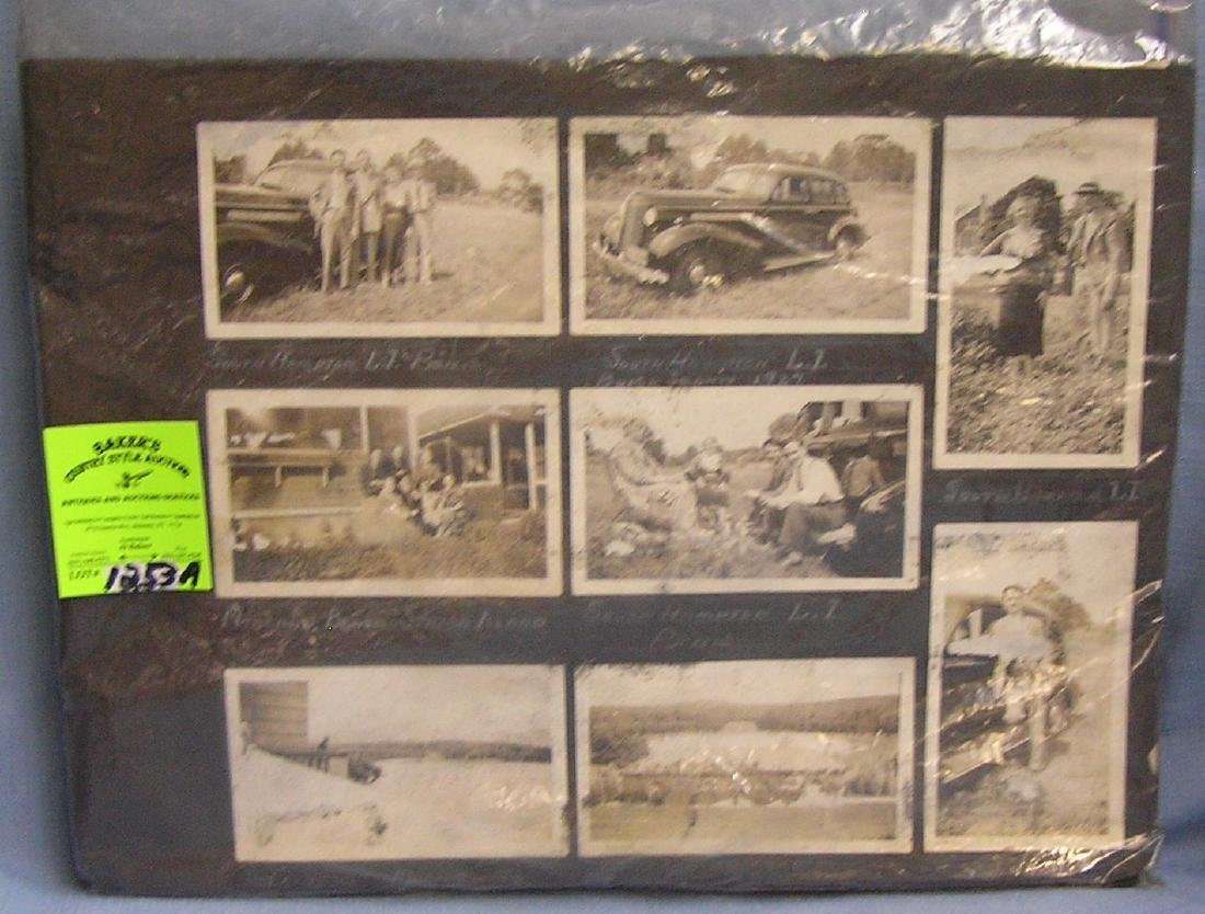 Large antique photo album scrap book