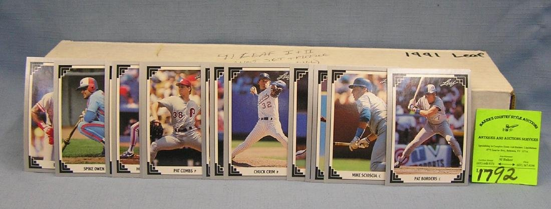 Leaf baseball card set with puzzle pieces