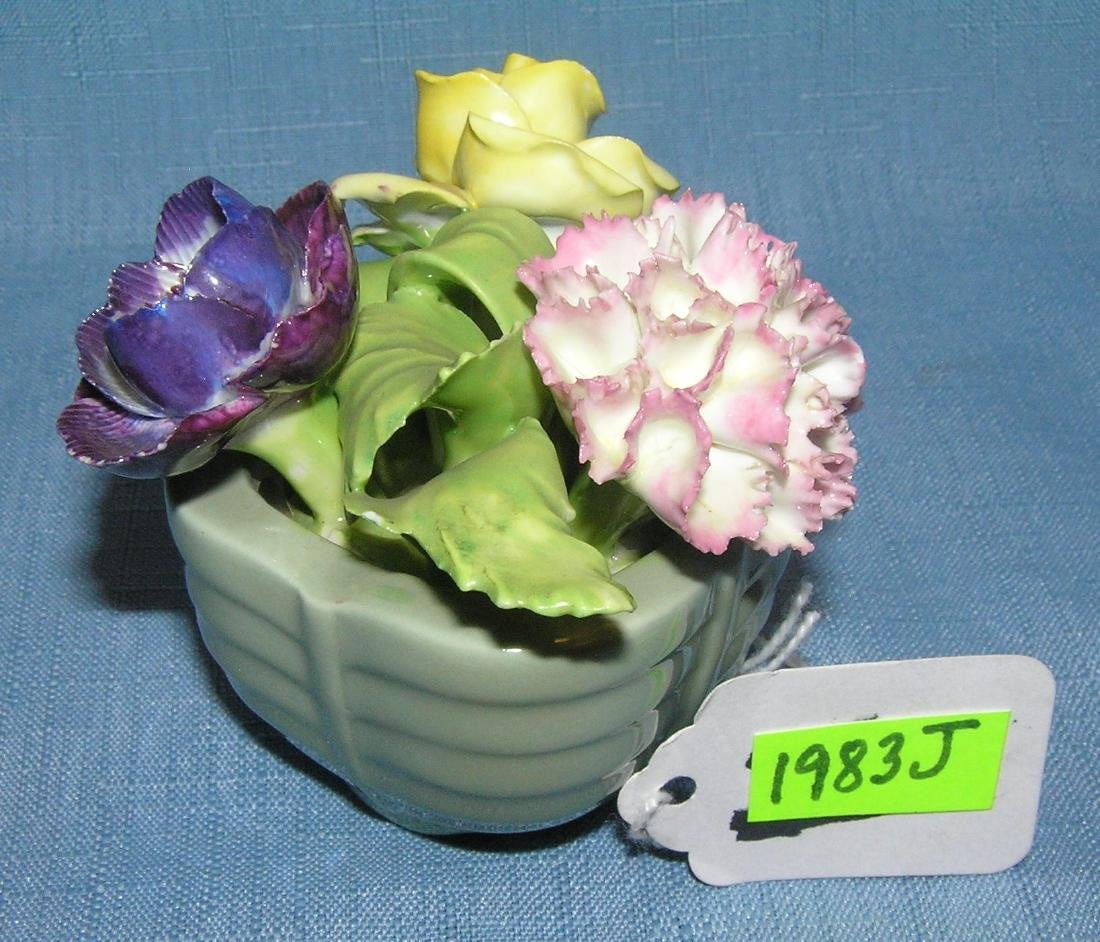 Staffordshire bone china floral decorated bowl