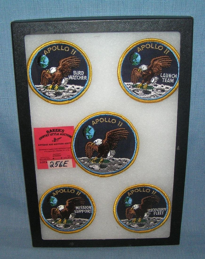 Apollo 11 moon landing embroidered patches