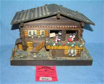 Swiss made hand carved music box jewelry box