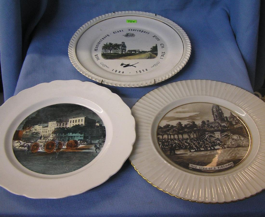 Early fire dept themed wall plates