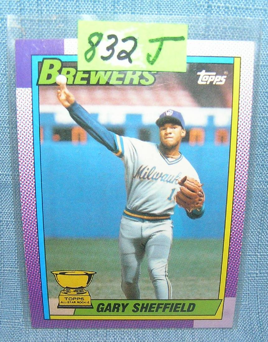 Gary Sheffield rookie baseball card
