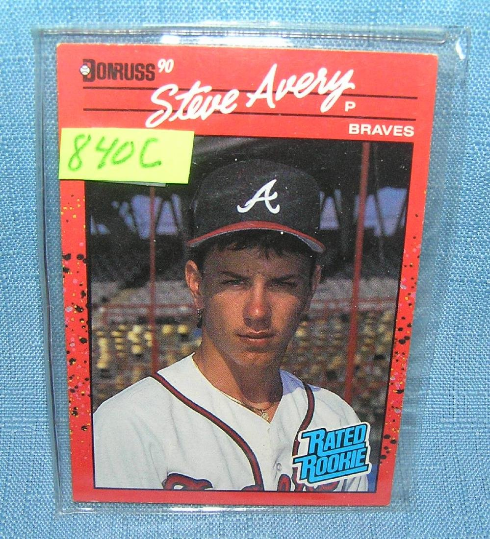 Vintage Steve Avery rookie baseball card