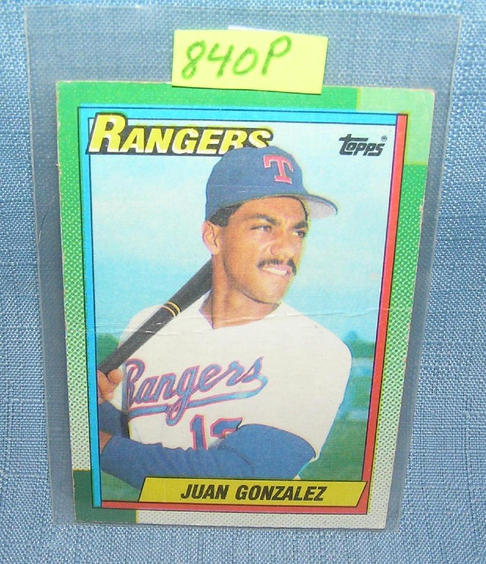 Vintage Juan Gonzalez Rookie Baseball Card Nov 19 2018
