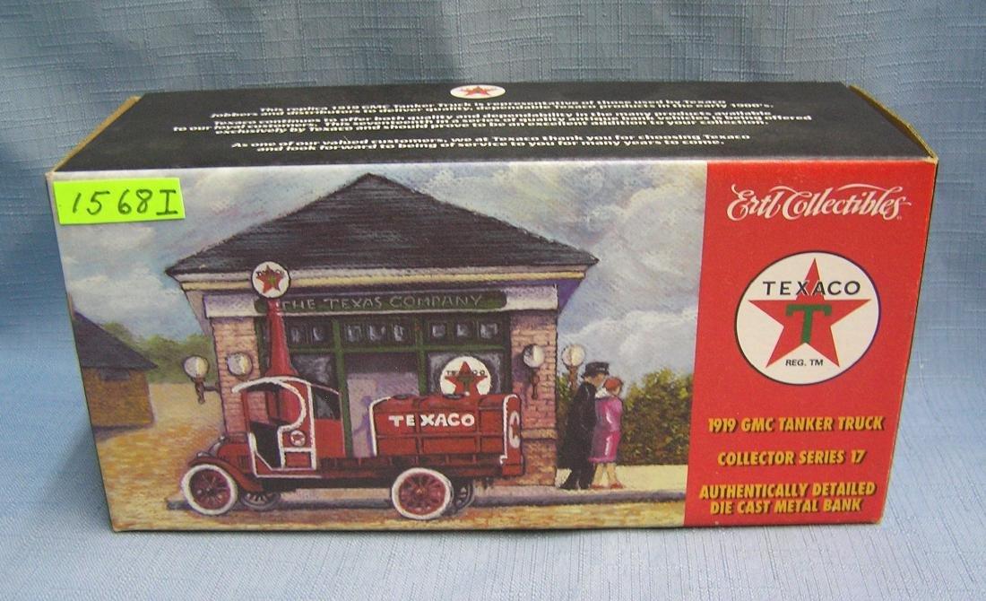 Vintage 1919 style GMC Texaco truck bank