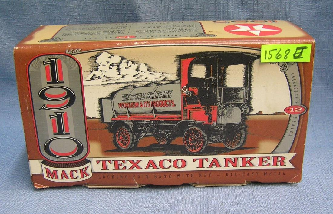 Vintage 1910 style MAC Texaco truck bank