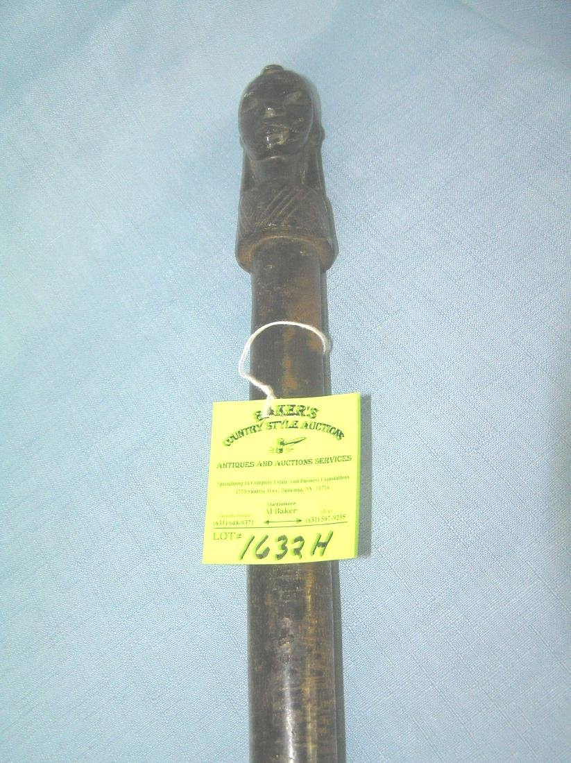 Hand carved African walking stick