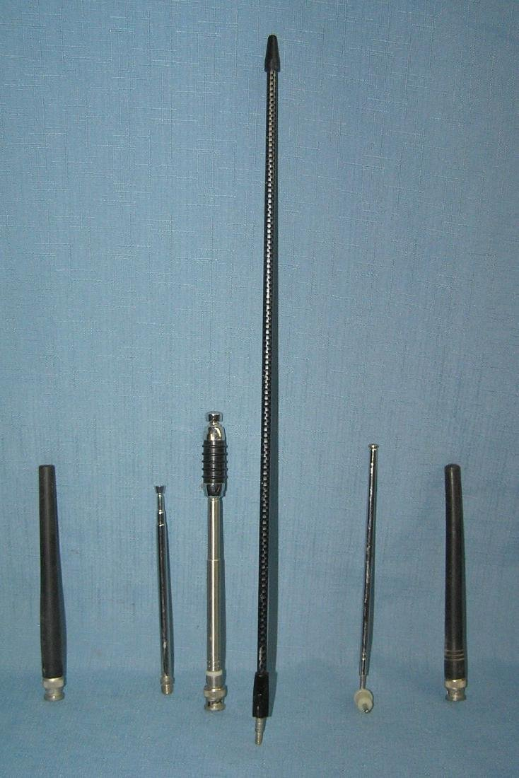 Group of scanner and 2 way radio antennas