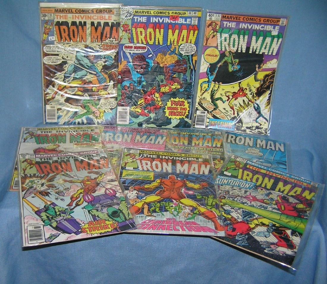 Vintage Ironman comic books by Marvel comics