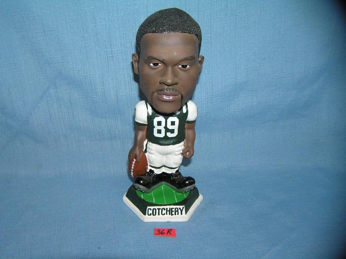 Vintage NY Jets Cotchery football bobble head figure