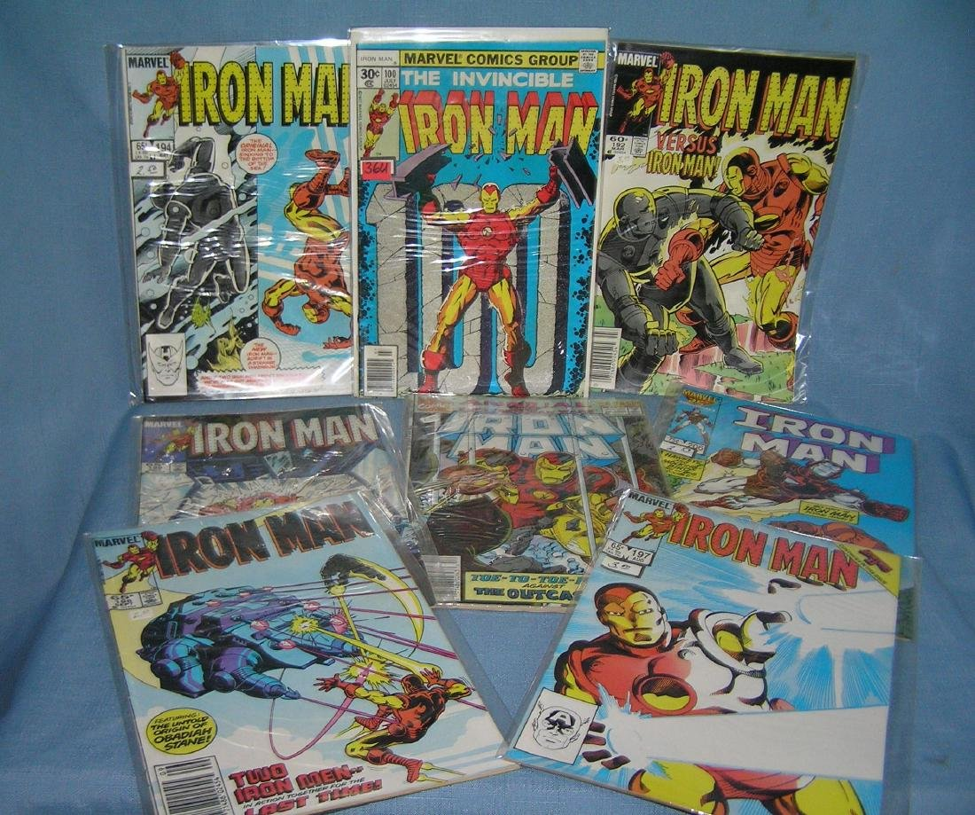 Vintage Ironman comic books by Marvel comics