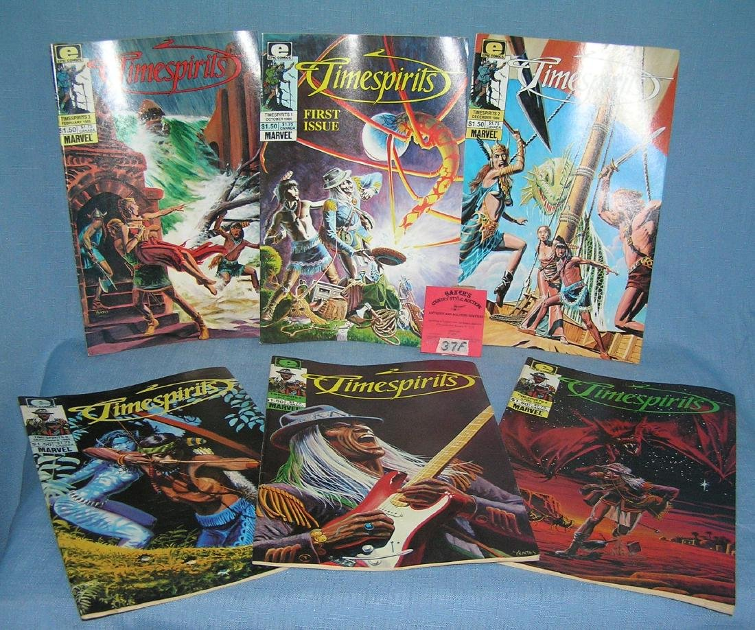 Group of vintage Time Spirit comic books issues 1-6