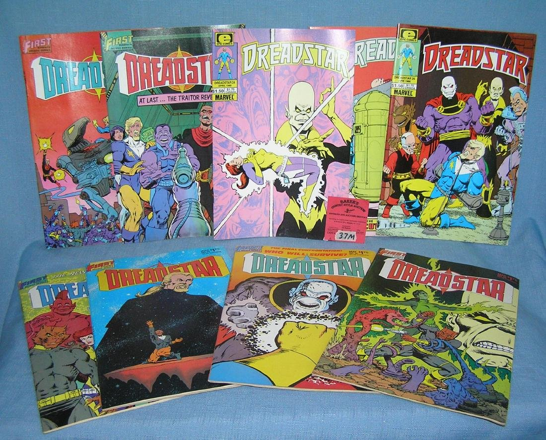 Group of vintage Dreadstar comic books