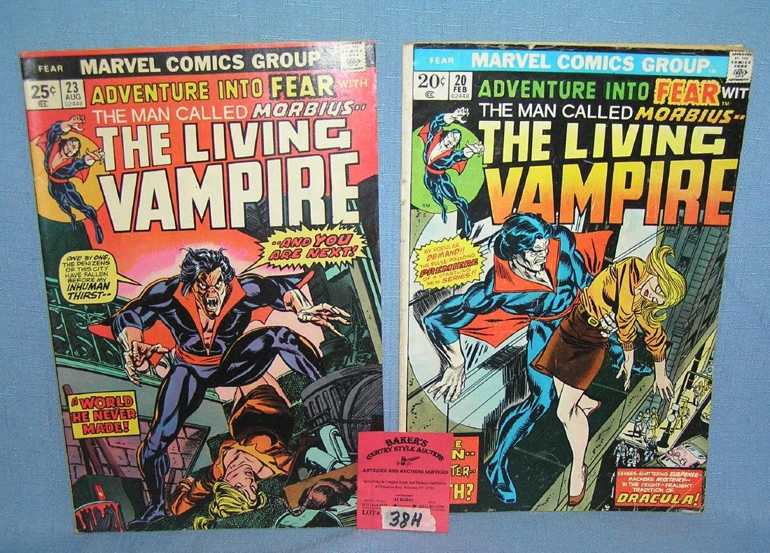Pair of vintage The Living Vampire comic books
