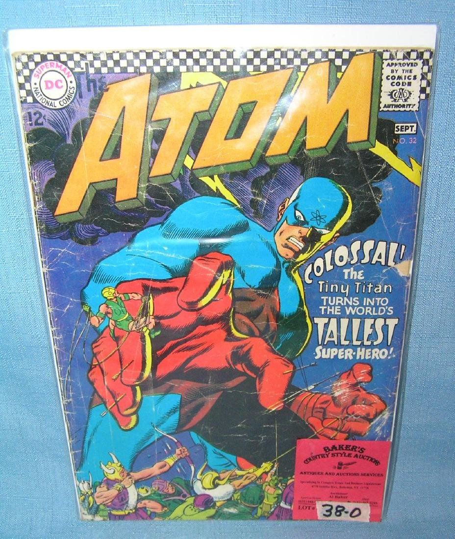 The Atom early DC comic book 12 cent cover price
