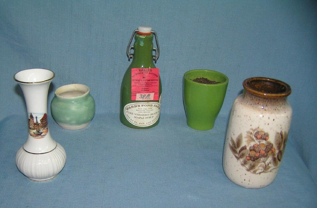 Group of porcelain art pottery vases, planters and more