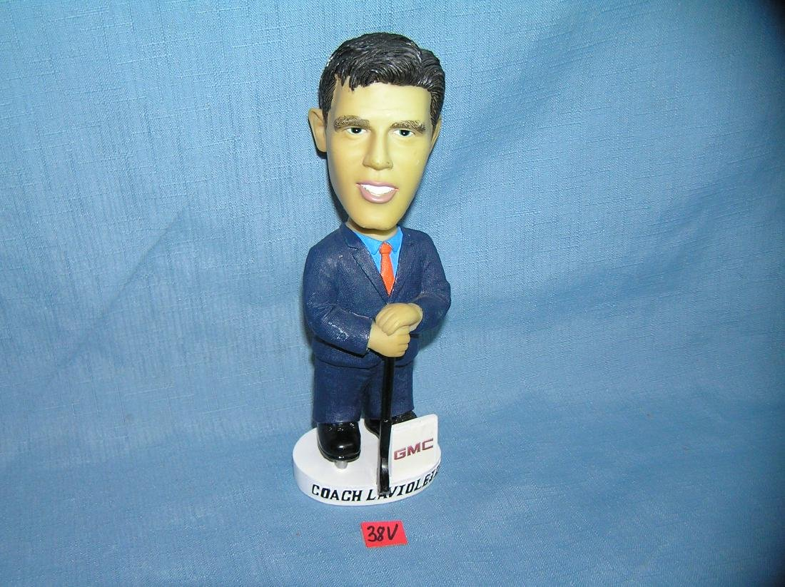 Vintage coach Laviolette hockey bobble head figure