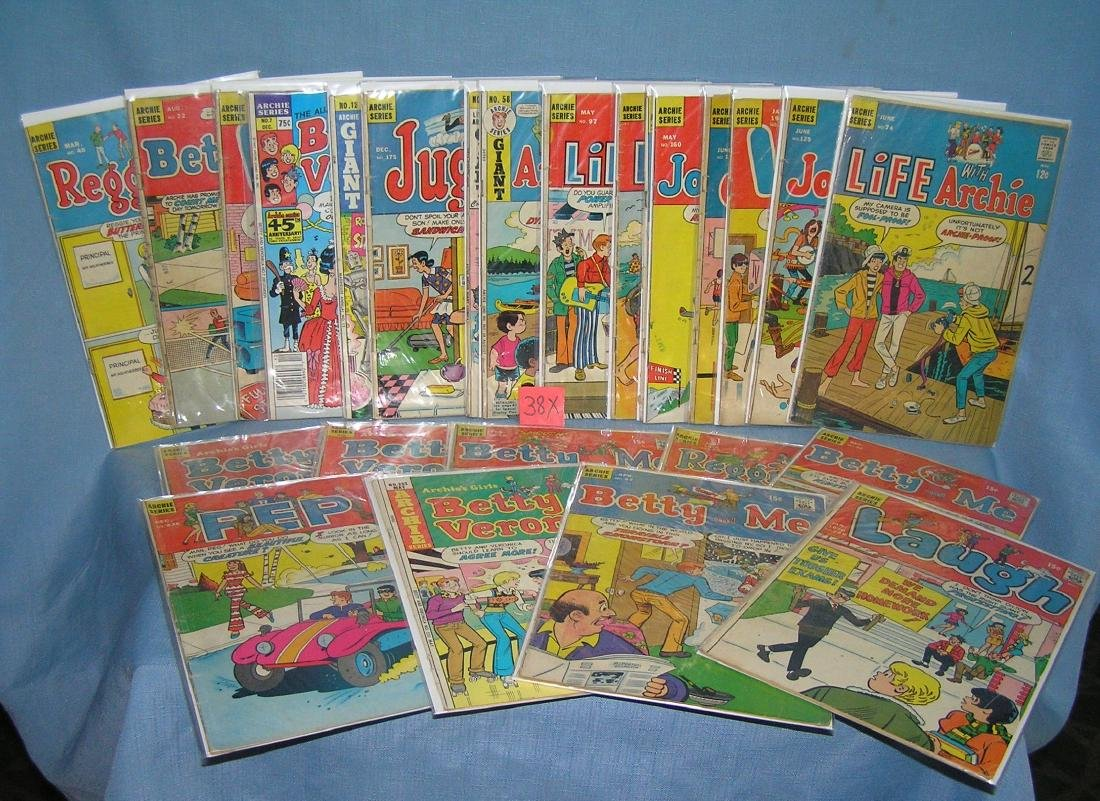 Large collection of vintage Archie comic books