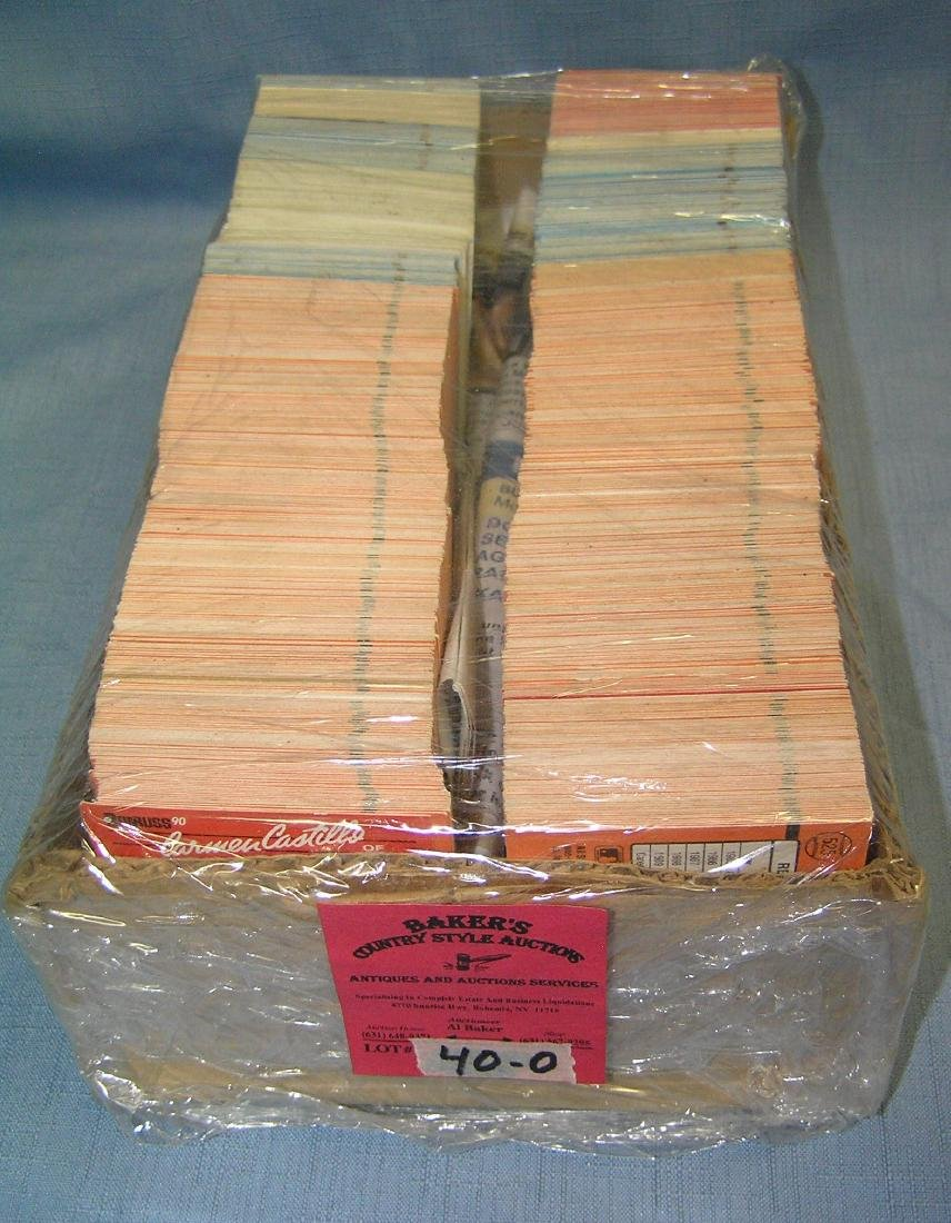 Large box of vintage baseball cards