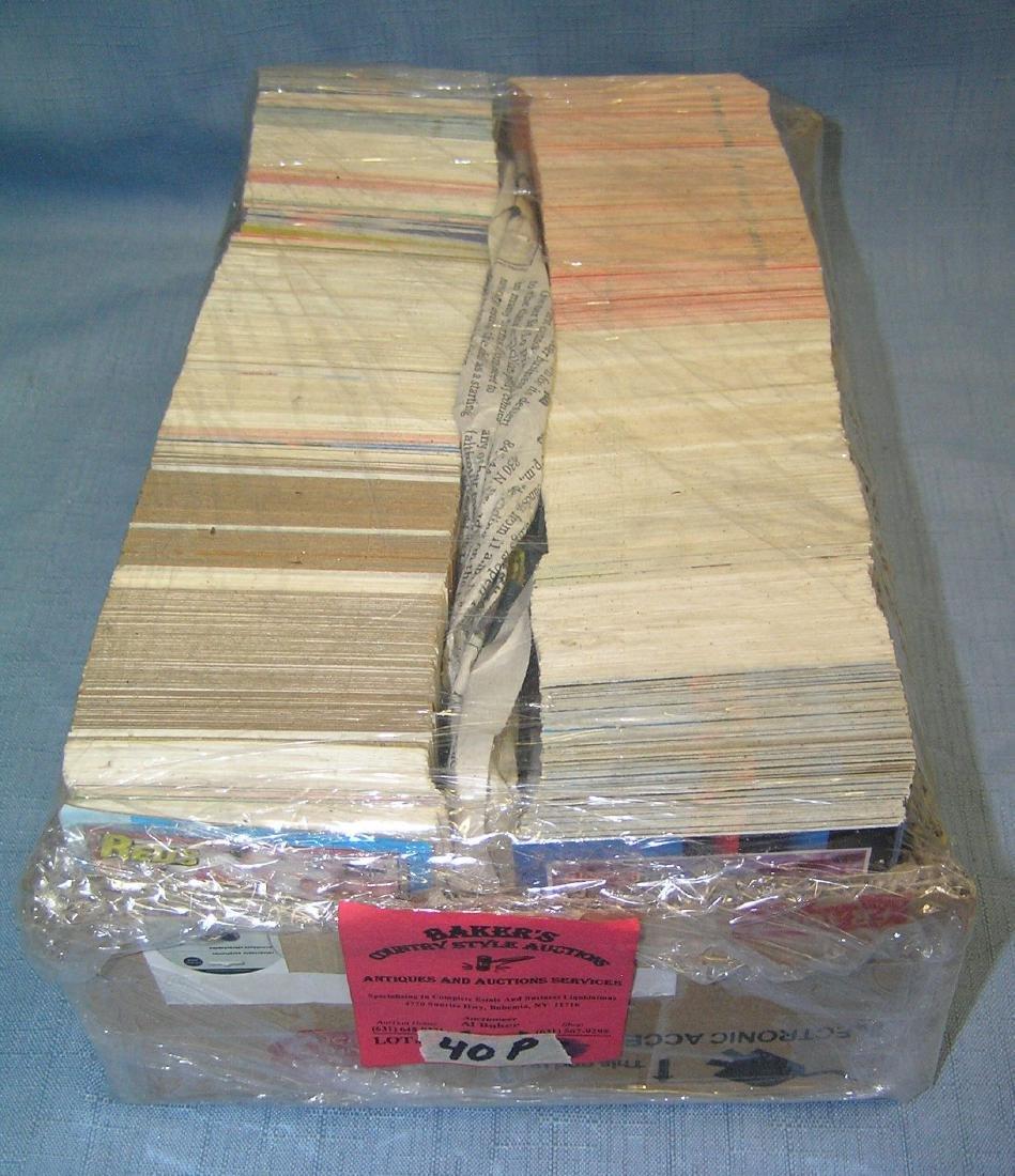 Large box of vintage baseball cards