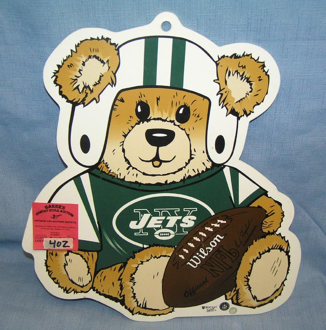 Vintage NY Jets football collecter's wall plaque
