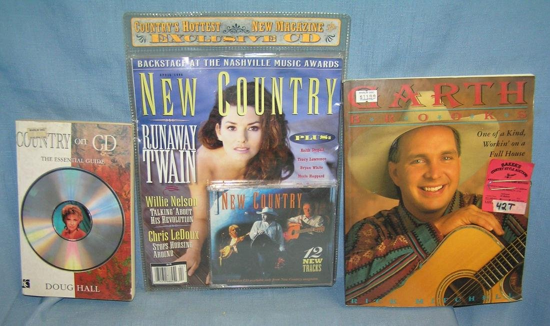 Group of vintage Rock and Roll books and CD's