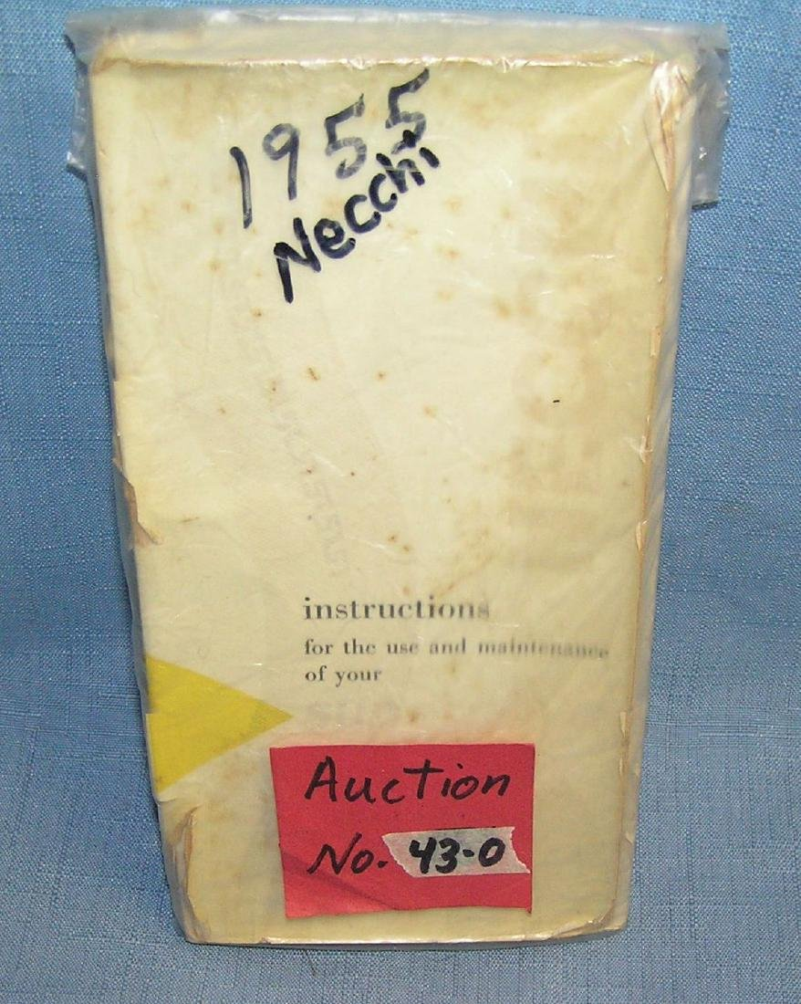 Necchi sewing machine instruction and maintenance book