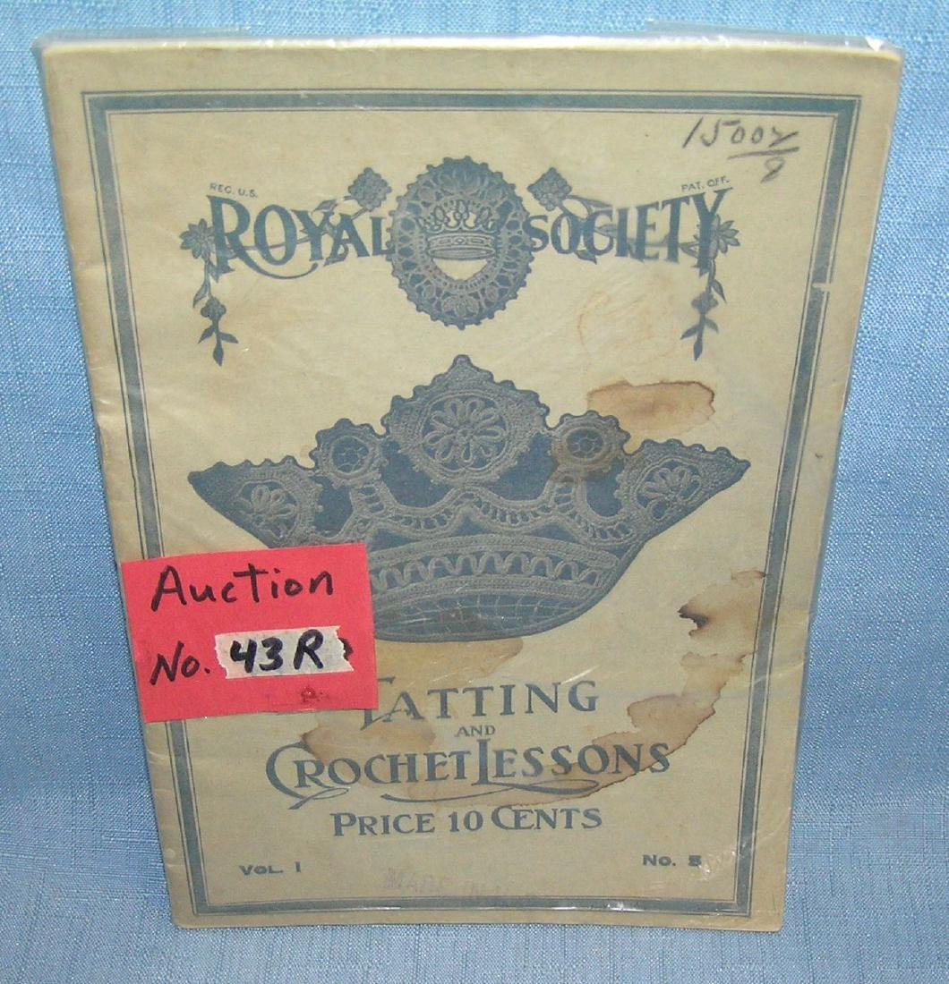 Royal Society book of tatting and crochet lessons