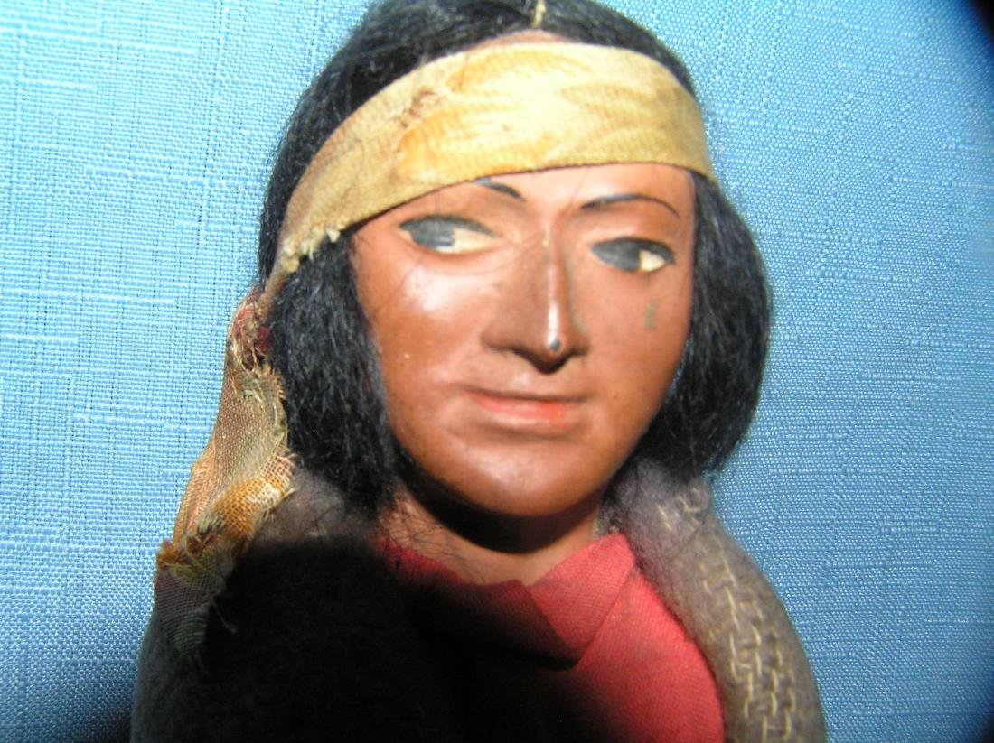 Native American Indian Skookum doll with head band - 2