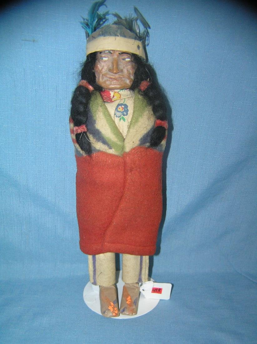 Native American Indian chief Skookum doll