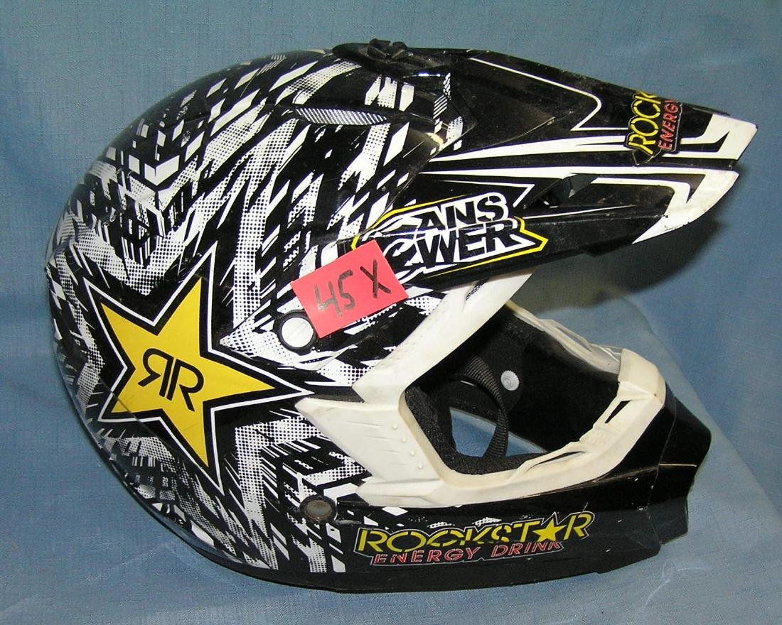 Answer Dot rock star energy drink racing helmet