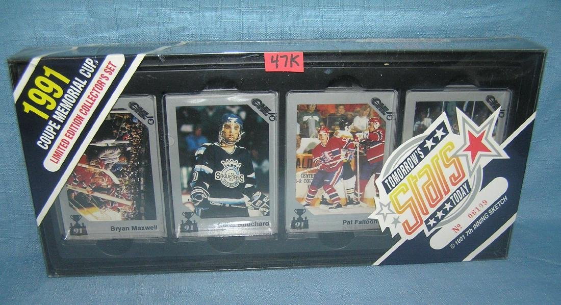 1991 hockey limited edition collector's card set