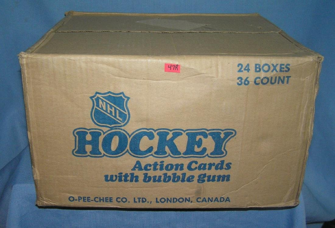 NHL hockey 24 unopened boxes in a factory sealed case