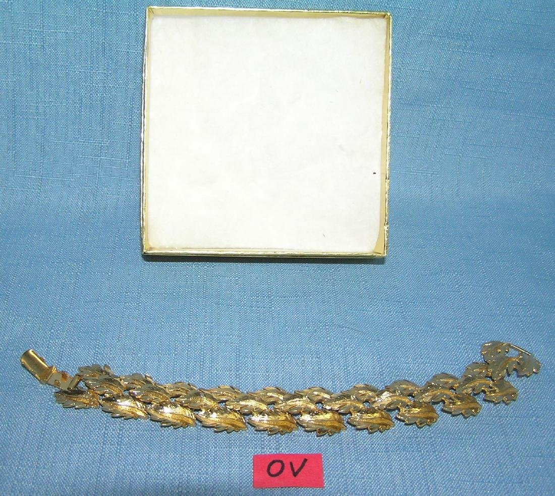 High quality signed napier gold toned bracelet