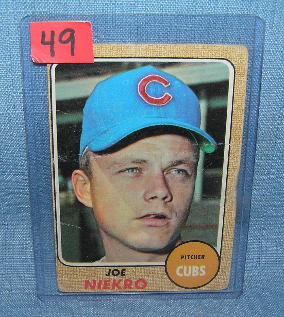 Joe Niekro 1968 Topps rookie card