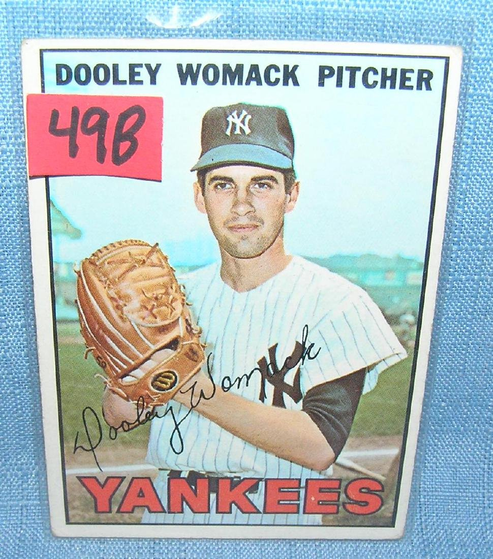 Dooley Womack 1967 Topps rookie card