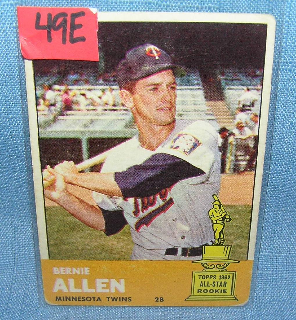 Bernie Allen 1963 Topps rookie card
