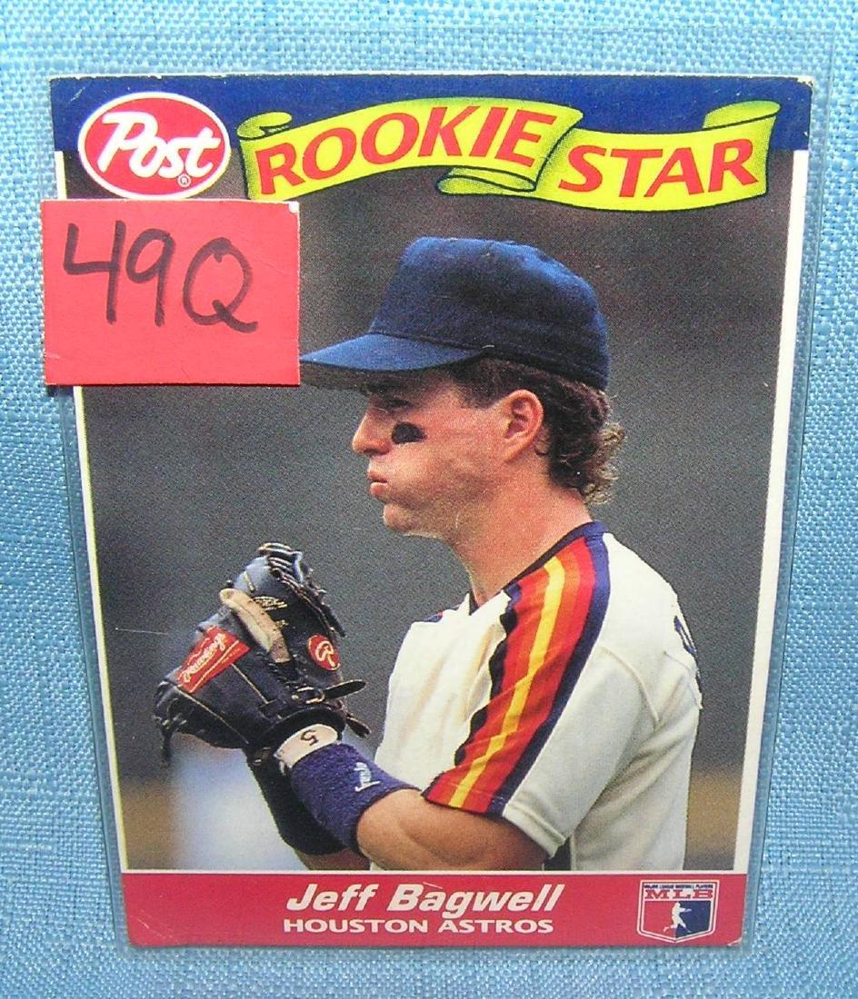 Jeff Bagwell rookie Baseball card