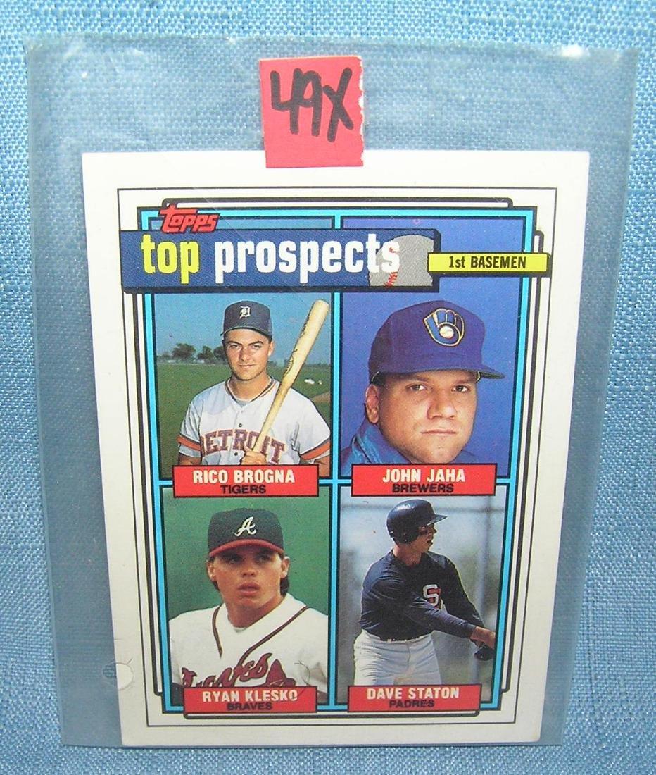 Ryan Klesko rookie Baseball card