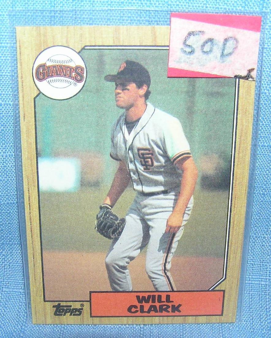 Will Clark rookie baseball card