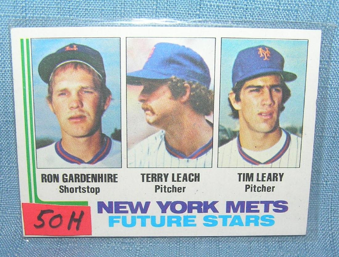 Ron Gardenhire and Terry Leach rookie baseball card