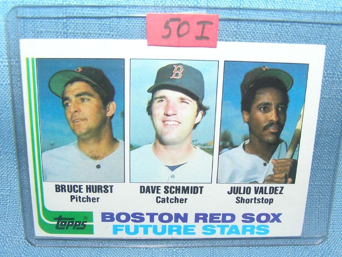 Bruce Hurst rookie baseball card