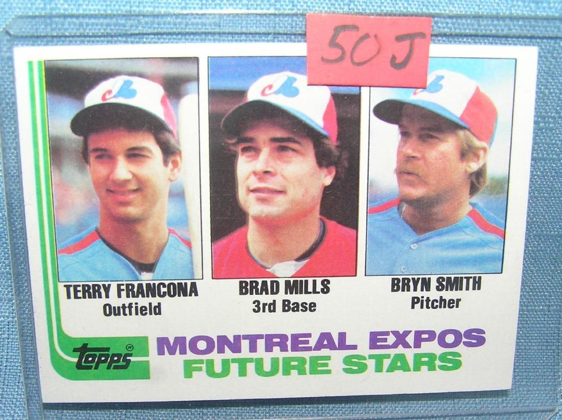 Terry Francona rookie baseball card