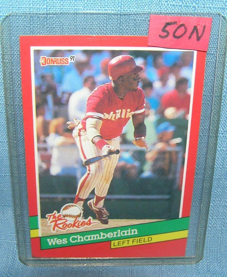 Wes Chamberlain rookie baseball card